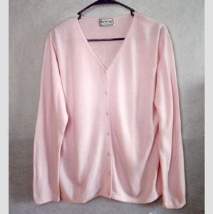 Burberry Vintage Knit Button Cardigan Pink size XL